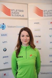 Athletics, Slovenia, Ljubljana, Press Conference (European Championships in Prague), Nina Djordjevic, 04-Mar-2015, (Photo by: Arsen Peric / M24.si)